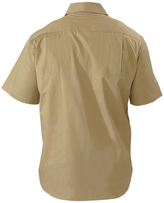 Bisley Bisley Cool Lightweight Drill Shirt - Short Sleeve - Khaki (BS1893) - Trade Wear