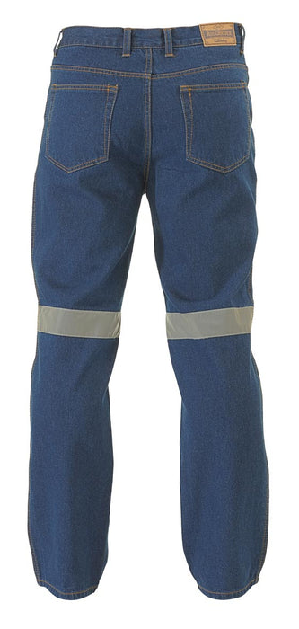 Bisley Bisley Rough Rider Jeans 3M Reflective Tape - Blue (BP6050T) - Trade Wear