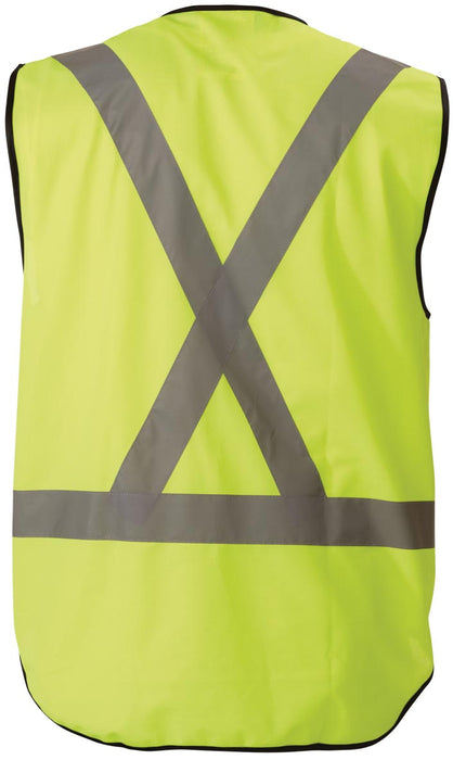 Bisley Bisley X Taped Hi Vis Vest - Yellow (BT0347) - Trade Wear