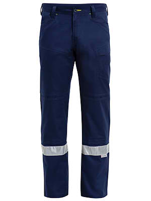 Bisley 3M Taped Ripstop Vented Work Pant - Navy (BP6474T) - Trade Wear