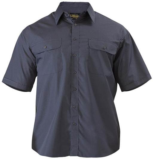 Bisley Bisley Permanent Press Shirt - Short Sleeve - Midnight (BS1526) - Trade Wear