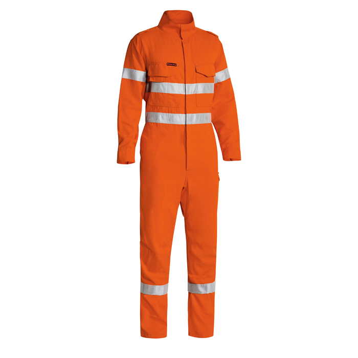 Bisley Taped Two Tone Hi Vis FR Lighweight Engineered Coverall-Orange - Trade Wear