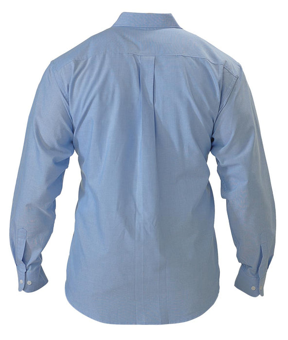 Bisley Oxford Shirt - Long Sleeve - Blue (BS6030) - Trade Wear