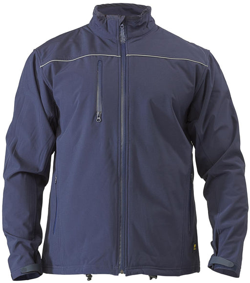 Bisley Bisley Soft Shell Jacket - Navy (BJ6060) - Trade Wear