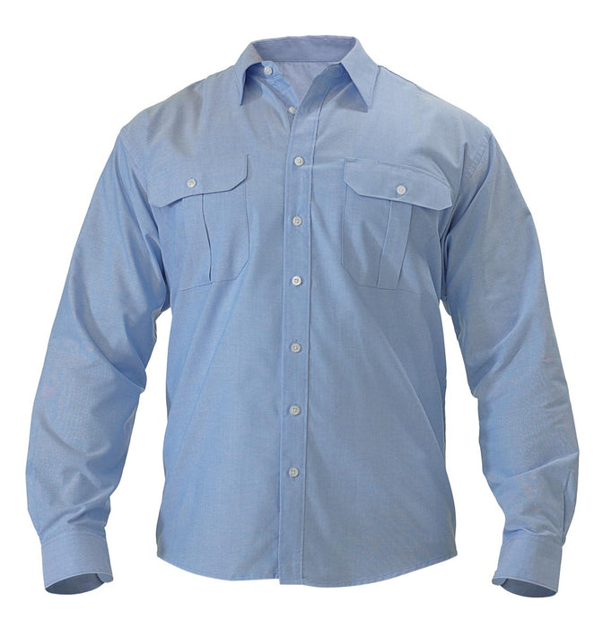 Bisley Bisley Oxford Shirt - Long Sleeve - Blue (BS6030) - Trade Wear