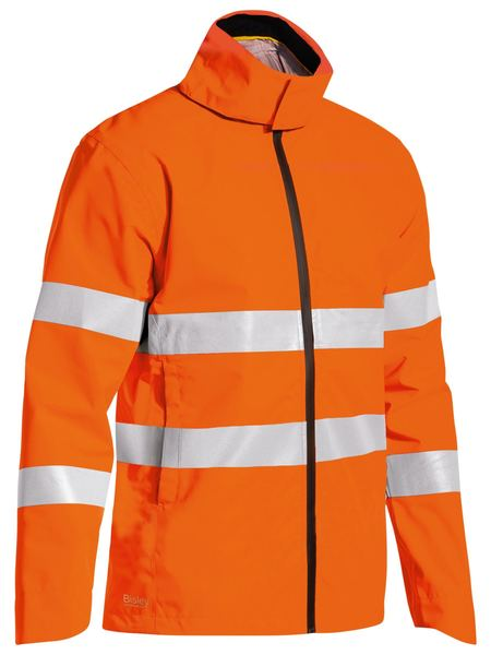 Bisley Bisley Taped Hi Vis Lightweight Ripstop Rain Jacket (BJ6927T) - Trade Wear