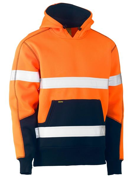 Bisley Bisley Taped Hi Vis Two Tone Fleece Pullover Hoodie (BK6619T) - Trade Wear