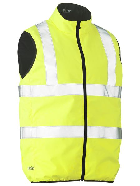 Bisley Bisley Taped Hi Vis Reversible Puffer Vest (BV0330HT) - Trade Wear