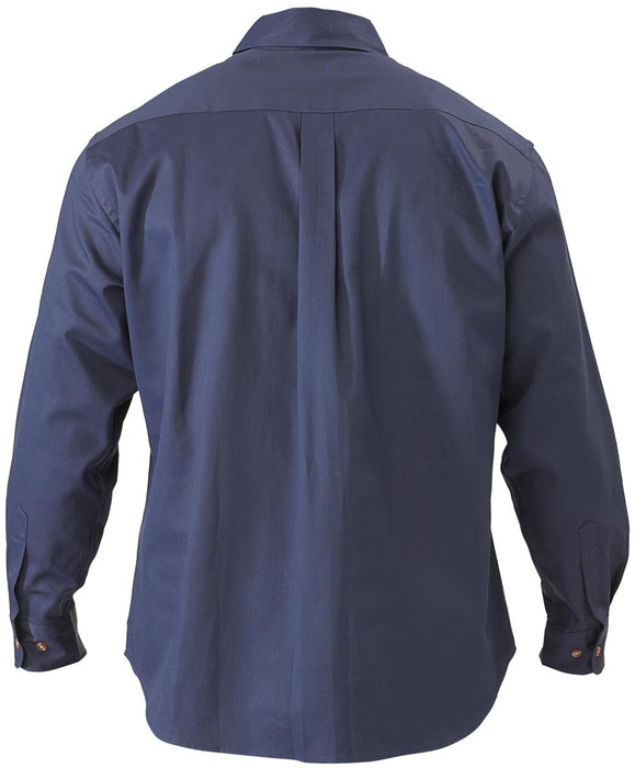 Bisley Original Cotton Drill Shirt - Long Sleeve - Navy - Trade Wear