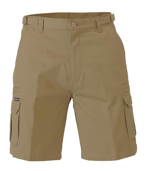 Bisley 8 Pocket Cargo Short - Khaki (BSHC1007) - Trade Wear