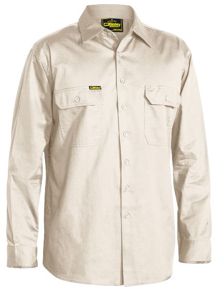 Bisley Bisley Cool Lightweight Drill Shirt  Long Sleeve (BS6893) - Trade Wear