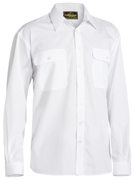 Bisley Bisley Permanent Press Shirt Long Sleeve (BS6526) - Trade Wear
