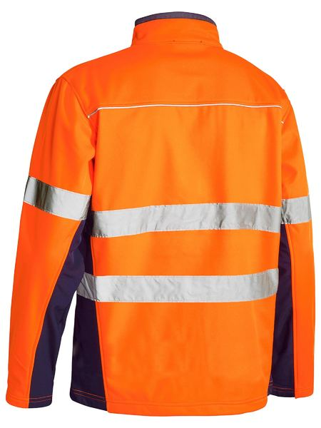 Bisley Bisley Soft Shell Jacket with 3M Reflective Tape (BJ6059T) - Trade Wear