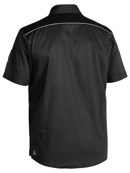 Bisley Bisley Flex & Move™ Mechanical Stretch Shirt Short Sleeve (BS1133) - Trade Wear