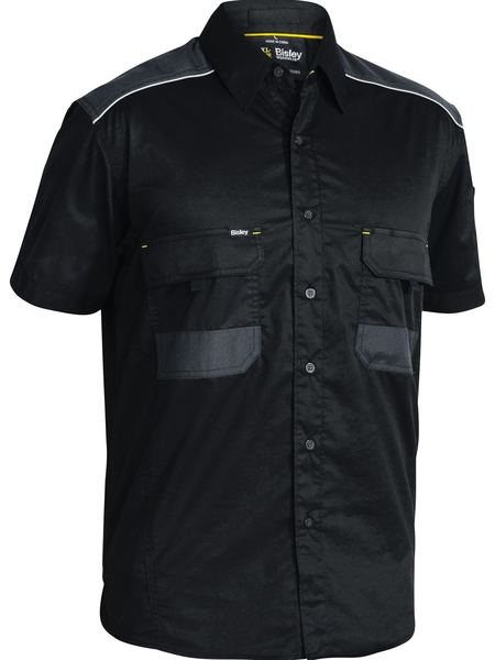Bisley Flex & Move™ Mechanical Stretch Shirt Short Sleeve (BS1133) - Trade Wear