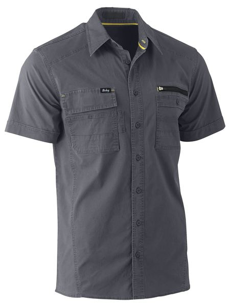 Bisley Flex & Move™ Utility Work Shirt - Short Sleeve (BS1144) - Trade Wear