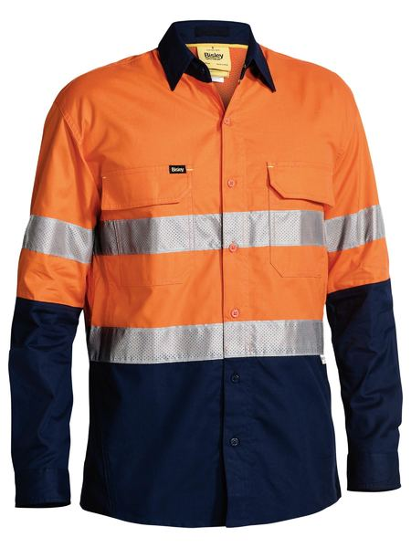 Bisley Bisley 3M Taped Hi Vis X Airflow™ Ripstop Shirt (BS6415T) - Trade Wear
