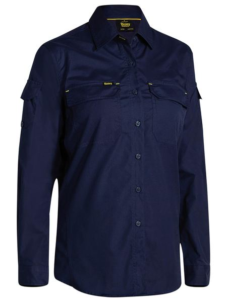 Bisley Bisley Womens X Airflow Ripstop Shirt - Navy (BL6414) - Trade Wear