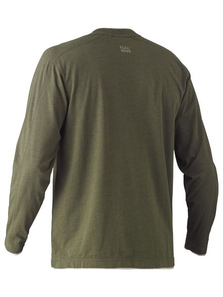 Bisley Bisley Flex & Move™ Cotton Rich V Neck Long Sleeve Tee (BK6933) - Trade Wear
