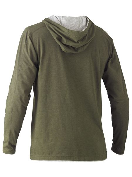 Bisley Bisley Flex & Move™ Cotton Rich Hoodie Long Sleeve Tee (BK6220) - Trade Wear