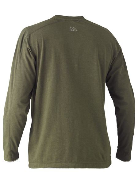 Bisley Bisley Flex & Move™ Cotton Rich Henley Long Sleeve Tee (BK6932) - Trade Wear