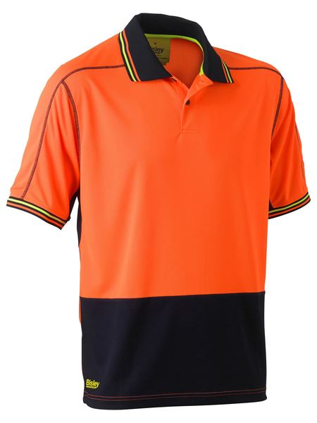 Bisley Bisley Two Tone Hi Vis Polyester Mesh Short Sleeve Polo Shirt (BK1219) - Trade Wear