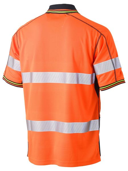 Bisley Bisley Taped Two Tone Hi Vis Polyester Mesh Short Sleeve Polo Shirt (BK1219T) - Trade Wear