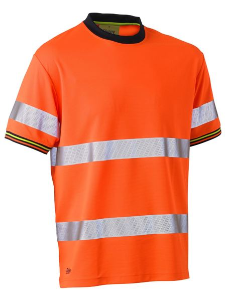 Bisley Bisley Taped Hi Vis Polyester Mesh Short Sleeve T-Shirt (BK1220T) - Trade Wear