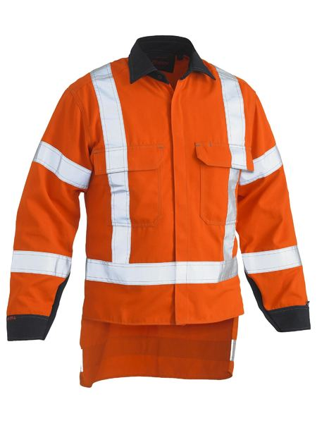 Bisley Bisley Tencate Tecasafe® Plus 700 X Taped Hi Vis TTMC-W FR Vented Long Sleeve Shirt (BS8349XT) - Trade Wear