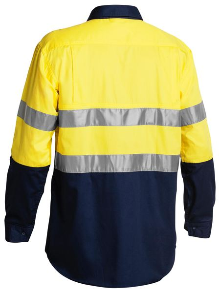 Bisley Bisley 3M Taped Two Tone Hi Vis Cool Lightweight Mens Shirt 4 Pack - Long Sleeve (BS68964P) - Trade Wear