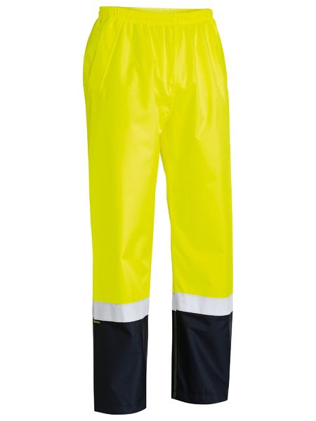 Bisley Taped Two Tone Hi Vis Shell Rain Pant (BP6965T) - Trade Wear