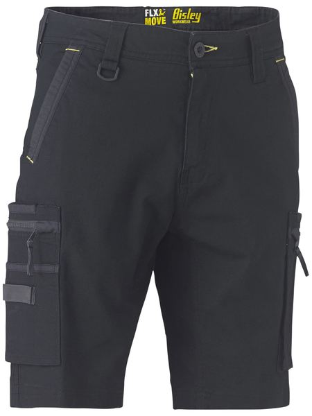 Bisley Flex & Move™ Stretch Utility Zip Cargo Short (BSHC1330) - Trade Wear