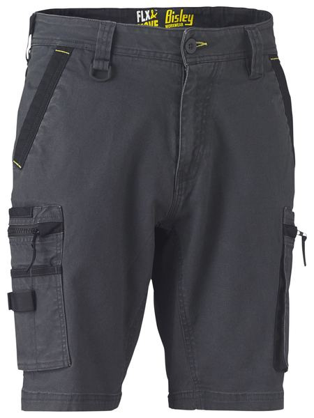 Bisley Bisley Flex & Move™ Stretch Utility Zip Cargo Short (BSHC1330) - Trade Wear