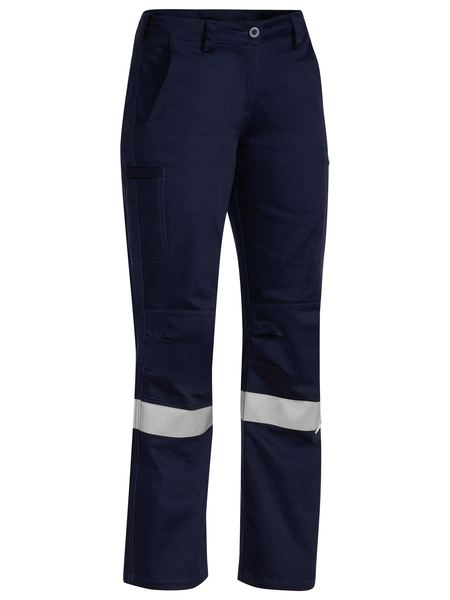 Bisley Bisley 3M Taped Industrial Engineered Womens Drill Pant - Navy (BPL6021T_Navy) - Trade Wear