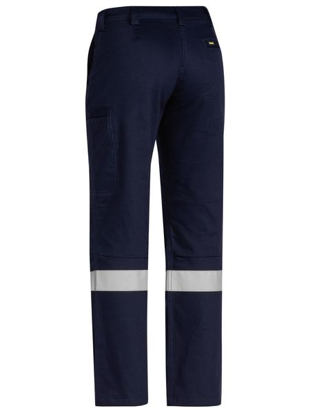 Bisley 3M Taped Industrial Engineered Womens Drill Pant - Navy (BPL6021T_Navy) - Trade Wear