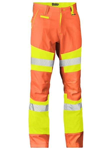 Bisley Bisley Taped Biomotion Double Hi Vis Pant (BP6411T) - Trade Wear