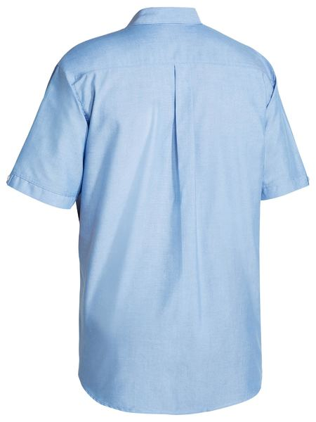 Bisley Bisley Oxford Shirt - Short Sleeve - Blue (BS1030) - Trade Wear