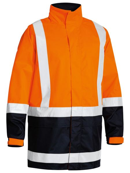 Bisley Bisley Two Tone Taped Hi Vis Rain Shell Jacket (BJ6966T) - Trade Wear
