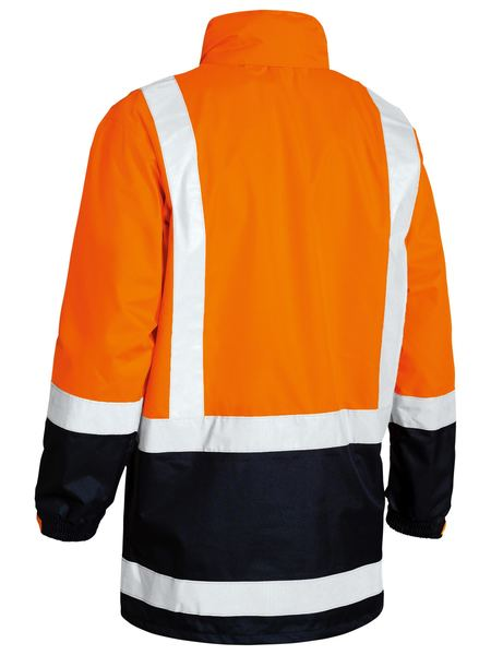 Bisley Two Tone Taped Hi Vis Rain Shell Jacket (BJ6966T) - Trade Wear
