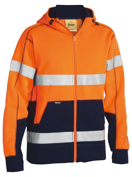Bisley Bisley Taped Hi Vis Fleece Hoodie (BK6819T) - Trade Wear
