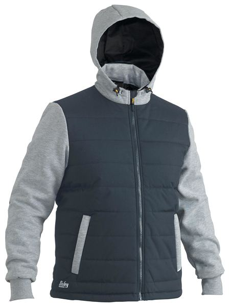 Bisley Flex & Move™ Contrast Puffer Fleece Hoodie (BJ6944) - Trade Wear