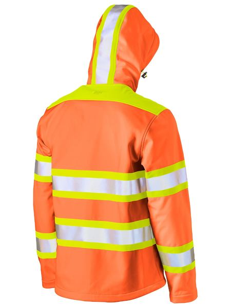 Bisley Bisley Taped Double Hi Vis Softshell Jacket (BJ6222T) - Trade Wear