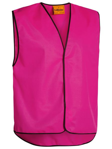 Bisley Hi Vis Ladies Lightweight Vest in Pink (BK0345) Men`s sizes fitting - Trade Wear