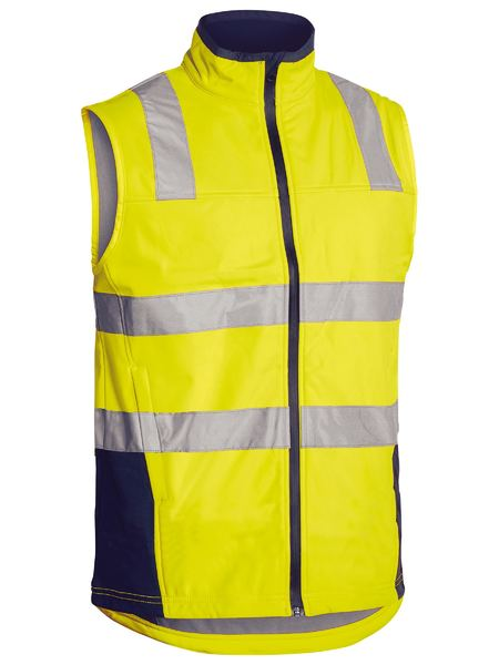 Bisley Bisley Taped Hi Vis Soft Shell Vest (BV0348T) - Trade Wear