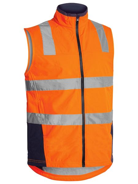 Bisley Taped Hi Vis Soft Shell Vest (BV0348T) - Trade Wear