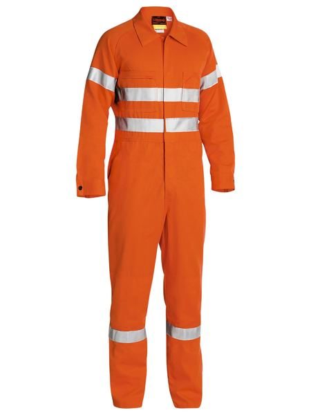 Bisley Fire Retardant Coverall 3M FR Reflective Tape - Orange (BC8001) - Trade Wear