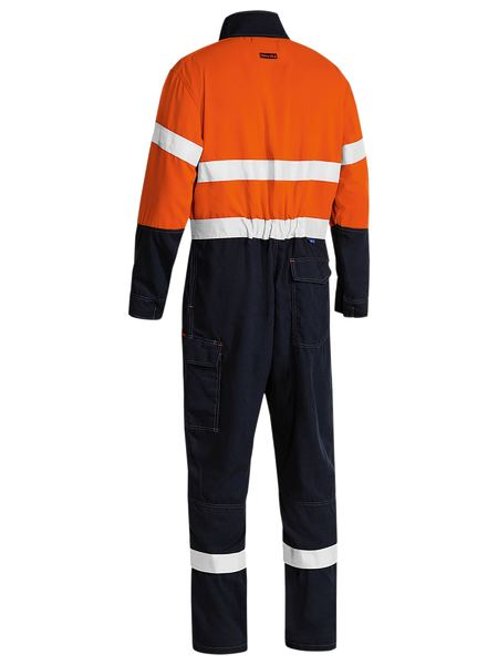 Bisley Bisley Taped Two Tone Hi Vis FR Lighweight Engineered Coverall-Orange/Navy (BC8186T) - Trade Wear