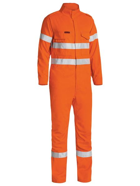Bisley Taped Two Tone Hi Vis FR Engineered Vented Coverall-Orange (BC8085T) - Trade Wear
