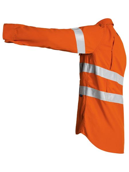 Bisley Bisley Tencate Tecasafe Taped FR Hi Vis Lightweight Vented Long Sleeve Shirt (BS8097T) - Trade Wear
