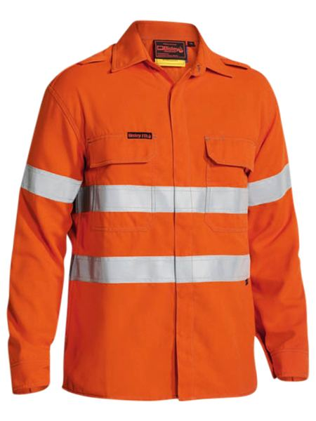 Bisley Bisley TenCate Tecasafe Plus FR Taped Hi Vis Lightweight Long Sleeve Shirt (BS8197T) - Trade Wear